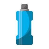 Icône d'isolement par gymnase de l'eau de bouteille Image libre de droits
