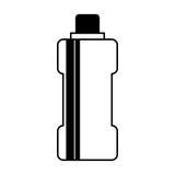 Icône d'isolement par gymnase de l'eau de bouteille Image stock