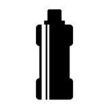 Icône d'isolement par gymnase de l'eau de bouteille Photo libre de droits