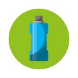 Icône d'isolement par gymnase de l'eau de bouteille Photographie stock libre de droits