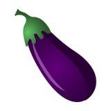 Icône d'isolement par légume frais d'aubergine Photographie stock libre de droits