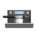 Icône d'isolement par machine de café Image libre de droits