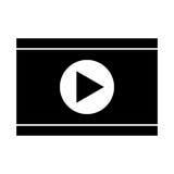 Icône d'isolement par media player Image stock