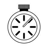 Icône d'isolement par montre de chronomètre Photos libres de droits