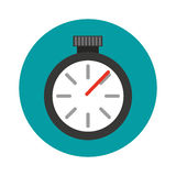 Icône d'isolement par montre de chronomètre Photo stock