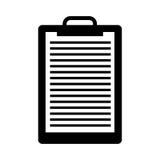 Icône d'isolement par papier de presse-papiers Photographie stock