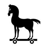 icône d'isolement par silhouette de Trojan Horse Image libre de droits