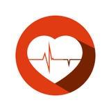 icône d'isolement par soin de coeur Image stock