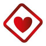 icône d'isolement par soin de coeur Photographie stock libre de droits