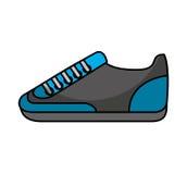Icône d'isolement par sport de chaussure Image libre de droits