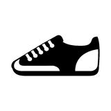 Icône d'isolement par sport de chaussure Image stock