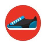 Icône d'isolement par sport de chaussure Photos libres de droits