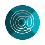icône d'isolement par symbole d'arroba Photos libres de droits