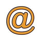 icône d'isolement par symbole d'arroba Image libre de droits