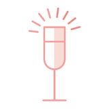icône d'isolement par tasse de vin illustration de vecteur