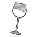 icône d'isolement par tasse de vin illustration stock