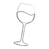icône d'isolement par tasse de vin Photographie stock libre de droits