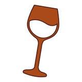 icône d'isolement par tasse de vin Photos libres de droits