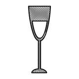icône d'isolement par tasse de vin Photos stock