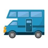 Icône d'isolement par transport de Van vehicle Photo stock