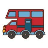 Icône d'isolement par transport de Van vehicle Photos stock