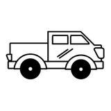 Icône d'isolement par transport de Van vehicle Images stock