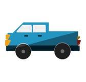 Icône d'isolement par transport de Van vehicle Photos libres de droits
