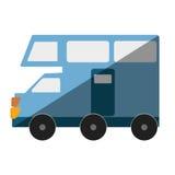 Icône d'isolement par transport de Van vehicle Photographie stock