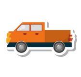 Icône d'isolement par transport de Van vehicle Photo libre de droits