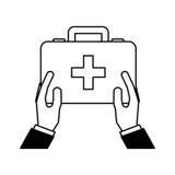 Icône d'isolement par trousse médicale Photos stock