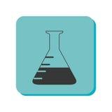 Icône d'isolement par verre d'essai de tube Image stock