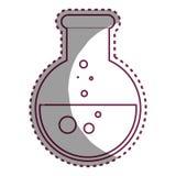 Icône d'isolement par verre d'essai de tube Photo libre de droits