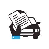 Icône d'isolement par voyage de véhicule d'assurance illustration libre de droits