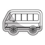 icône d'isolement vehicle de van Photo libre de droits