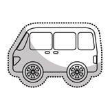 icône d'isolement vehicle de van Photos libres de droits