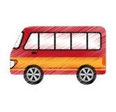 icône d'isolement vehicle de van Photos stock