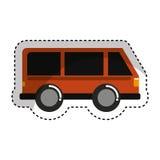 icône d'isolement vehicle de van illustration libre de droits