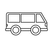 icône d'isolement vehicle de van illustration stock