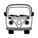 icône d'isolement vehicle de van illustration de vecteur
