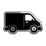 icône d'isolement vehicle de van Image libre de droits