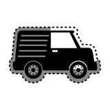 icône d'isolement vehicle de van Images libres de droits