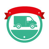 icône d'isolement vehicle de van Images stock