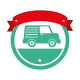 icône d'isolement vehicle de van Image stock