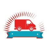 icône d'isolement vehicle de van Photographie stock