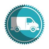 icône d'isolement vehicle de van Photographie stock libre de droits