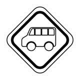 Icône d'isolement vehicle de van de feux de signalisation Photos stock