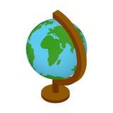 Icône 3d isométrique de globe d'école illustration de vecteur
