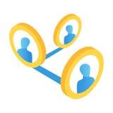Icône 3d isométrique de media social illustration de vecteur