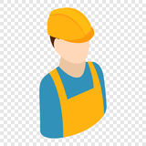 Icône 3d isométrique de travailleur Images libres de droits