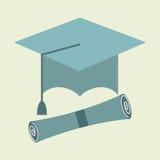 Icône d'obtention du diplôme Images stock